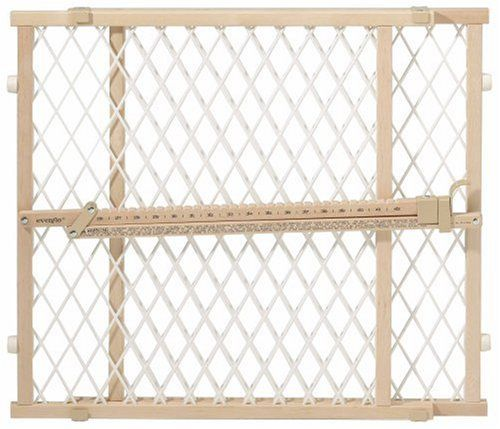 $19.99-$19.99 The Evenflo Position & Lock Gate is one of the most popular and affordable gates on the market. It doesn't compromise on quality - It features a mesh panel to help make the gate sturdy and also protect dogs or cats from getting stuck. The pressure mounting provides security yet will also keep your walls becoming getting damaged, as it does not require hardware to install. Some hardw ...