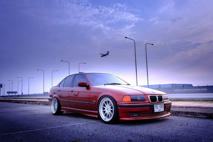 Hartge Spec Calypsorot Bmw E36 Sedan On Cult Classic Oz Hartge Design C Wheels Bmw E36