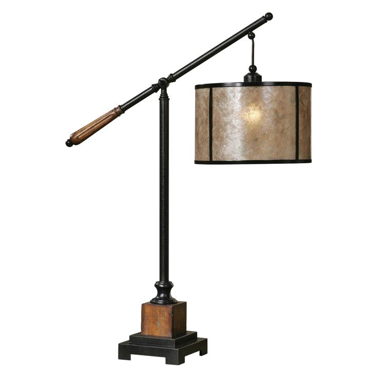 Uttermost 26760-1 Sitka Desktop Lamp - 12W in. Heavily Distressed Rustic Mahogany and Light Rottenstone - 26760-1