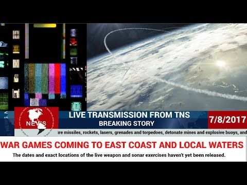 THIS IS A BREAKING REPORT FROM TNS-- WAR GAMES PLANNED FOR EAST COAST AN...THIS IS A BREAKING REPORT FROM TNS-- WAR GAMES PLANNED FOR EAST COAST AND WATERS--NO DATE GIVEN Texas News Studio  Texas News Studio Subscribe5.7K  Add to  Share  More 216 views  16  8 ShareEmbedEmail               https://youtu.be/Ca85FTfm0s8   Streamed live 2 hours ago Live Streaming News and Weather Coverage From the Texas News Studio Channel jULY 8, 2017