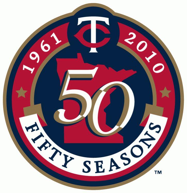 Minnesota Twins Anniversary Logo (2010) - 50th Season of Twins Baseball