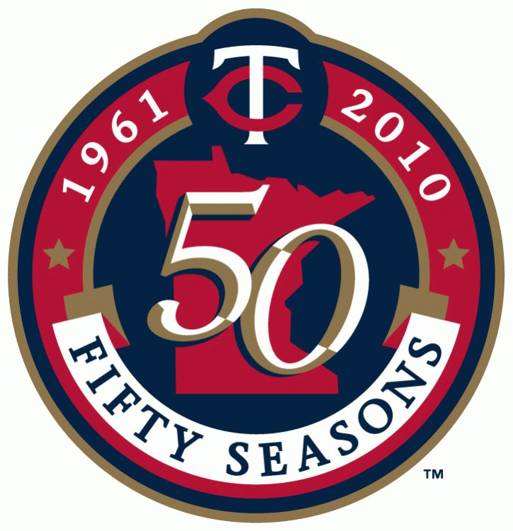 Minnesota Twins Anniversary Logo (2010) - 50th Season of Twins Baseball