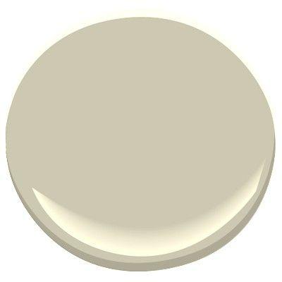Benjamin Moore Camouflage, beige with green undertones, helps to make a room look bigger. A 2013 color chosen by Benjamin Moore.