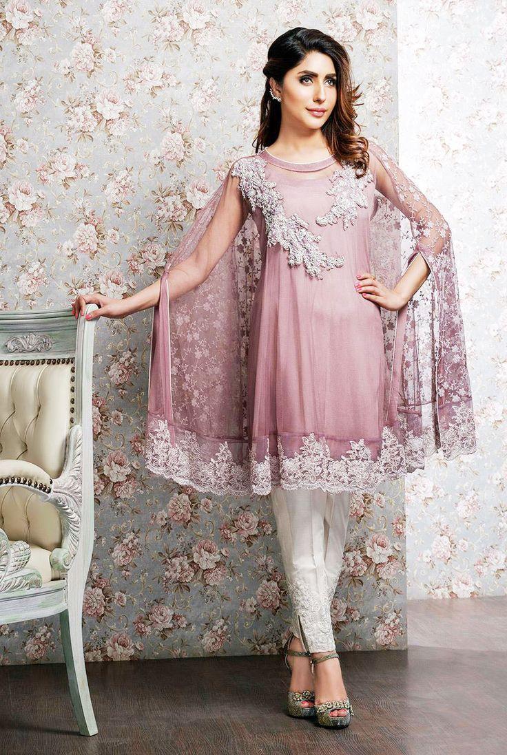 Modern dress of pakistan 2016 - Latest Pakistani Cape Style Dresses 2016 2017 Designer Collection Beststylo Com