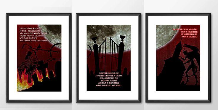 Bat Out Of Hell  - 3 Print Set  - Tribute to Meatloaf by ShamanAlternative on Etsy