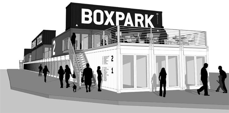 shipping containers at boxpark shoreditch