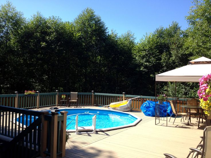 The 25 best pool canopy ideas on pinterest outdoor for Above ground pool decks with bar