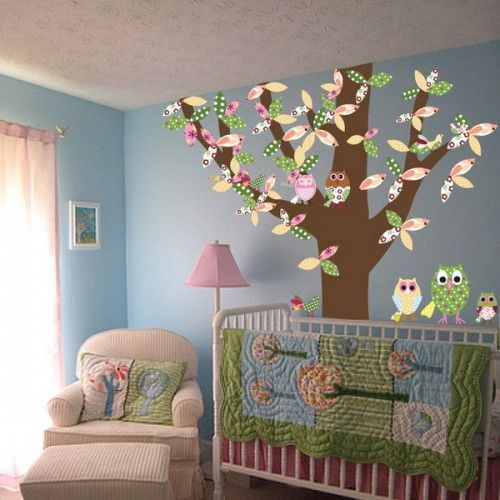 Birds is a good theme for a kids room. There are many ways to do that. You can use wallpapers, vinyl wall stickers, furniture, fabrics and bedding sets that feature birds in one way or another. In any case you can achieve a very interesting look of the kids room that your child will definitely like.