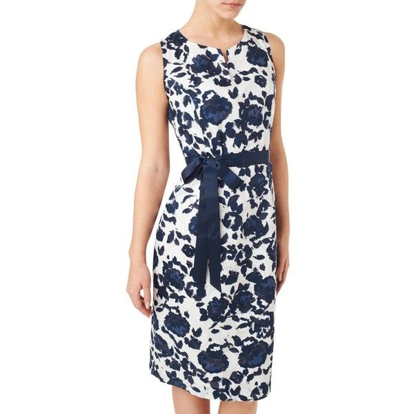 Precis Petite Clip Spot Dress ($130) ❤ liked on Polyvore featuring dresses, petite, flower print dress, long-sleeve shift dresses, midi dress, floral print dress and petite dresses