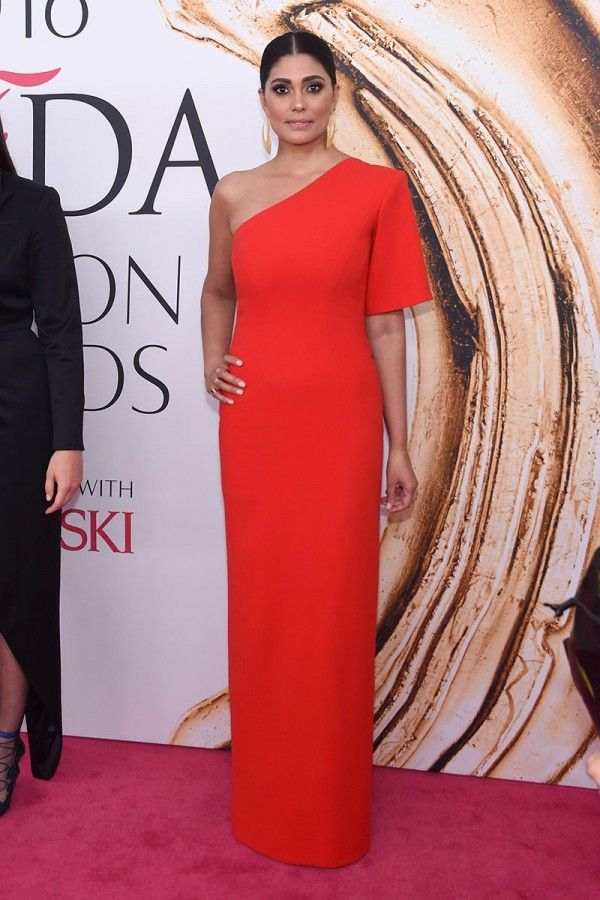 Celebrity Red Sheath Asymmetrical One-Shoulder Cool And Clean Long Dress