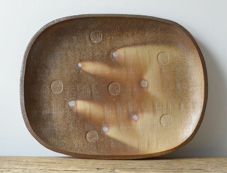 Svend Bayer.  large hump moulded dish — Oxford Ceramics Svend Bayer Wood Fired Glazed Pot,. #SvendBayer