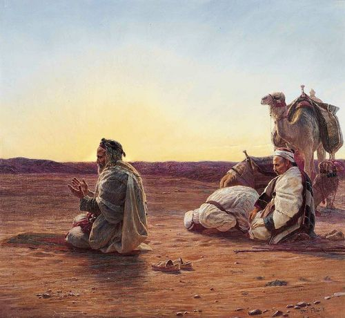 divaneee:  Prayer in the Desert of Egypt by Otto Pilny by Benbouzid on Flickr.