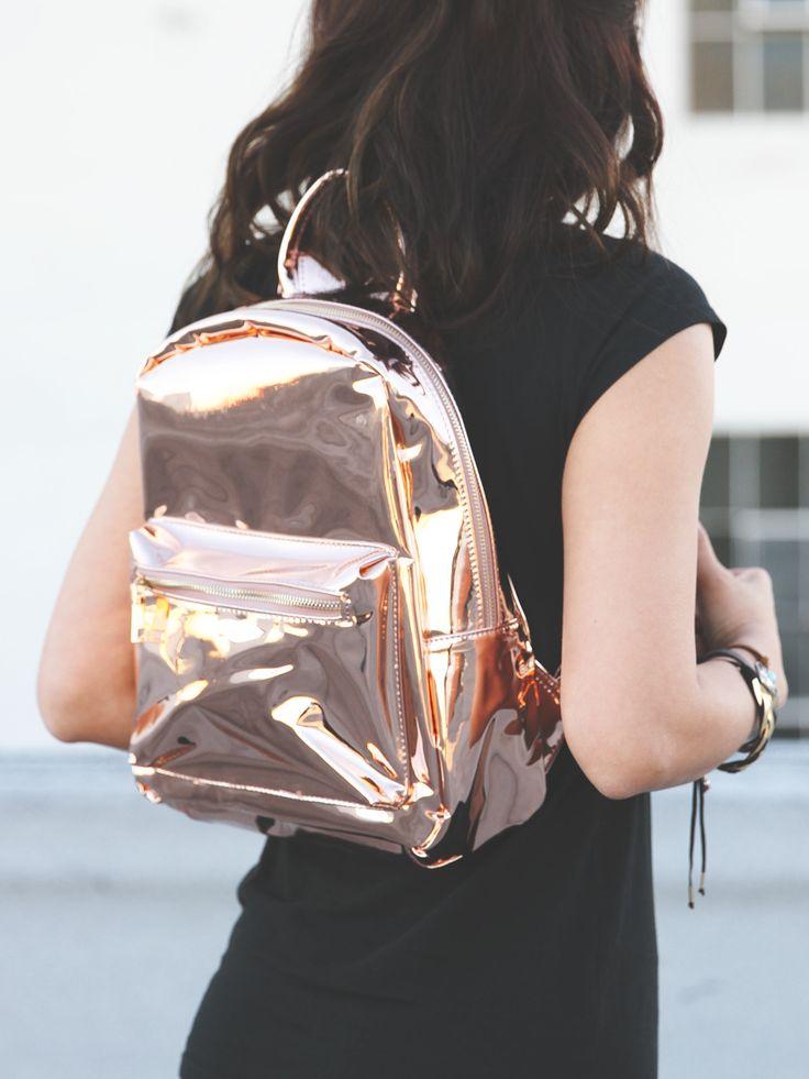 Spacesuit Rose Gold Metallic Backpack