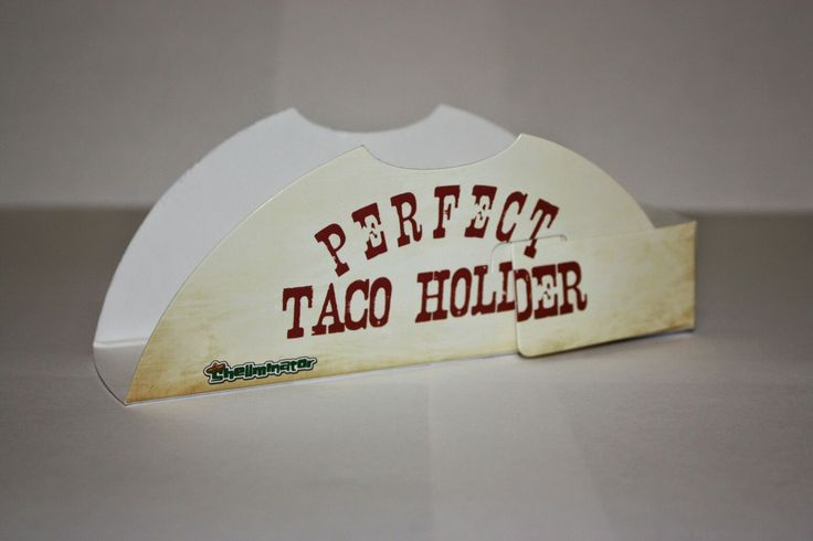 Perfect Taco Holders 10 Pack Paper Guerro Products