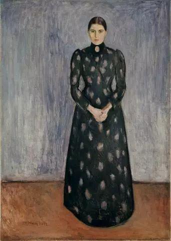Edvard Munch: Inger i svart og fiolett, 1892. Nasjonalmuseet for kunst, arkitektur og design