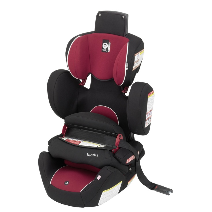 Kiddy World Plus Car Seat in Rumba. $299.99 ***FEATURES*** Original Kiddy Protection Shield - Side Impact Protection - Easy Adjustable Headrest - 2-way Folding Seat Cushion - Lightweight Design (Only 15 lb.) - Integrated Shoulder Belt Guides - Durable Cover - Comfortable Armrest - Can be used in aircraft.