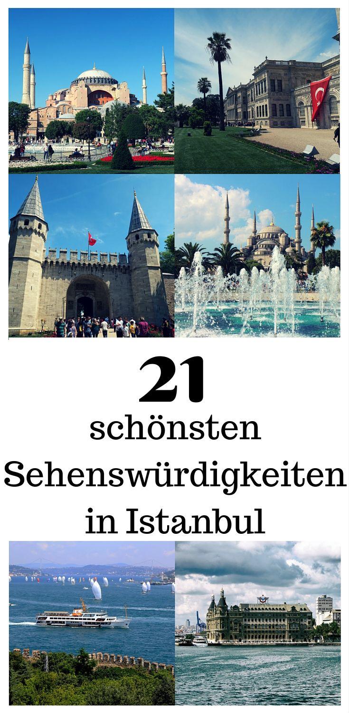 Meine Liste der 21 schönsten Sehenswürdigkeiten in Istanbul findest du in meinem neuen Blogbeitrag. Darin beschreibe ich die Sehenswürdigkeiten, gebe dir Tipps zum Besuch, dem Eintritt und verrate dir ein paar Möglichkeiten um beim Sightseeing in Istanbul Geld zu sparen. Natürlich gibt es abgesehen von meinem Top-21 auch ein paar Geheimtipps im Blog zu entdecken. Ich habe sie alle in eine Landkarte im Blogbeitrag eingetragen: http://www.tuerkeireiseblog.de/sehenswuerdigkeiten-istanbul/