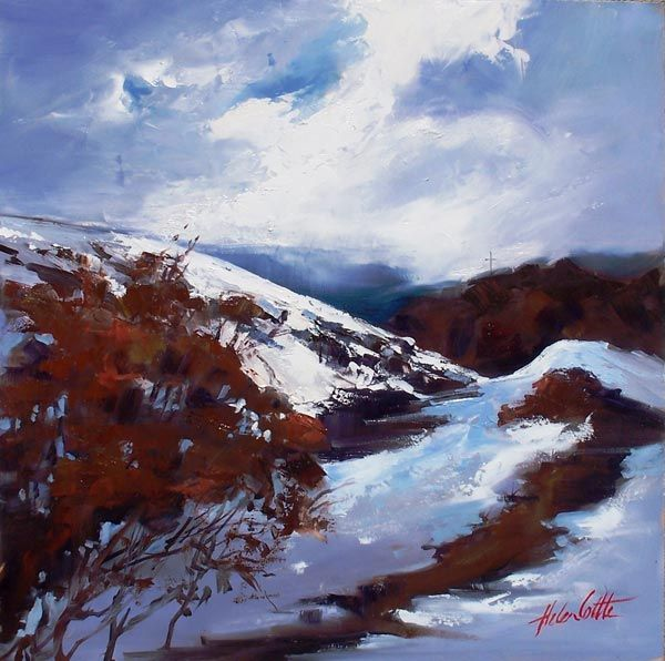 Break In Theclouds Falls Creek Oil 40x40