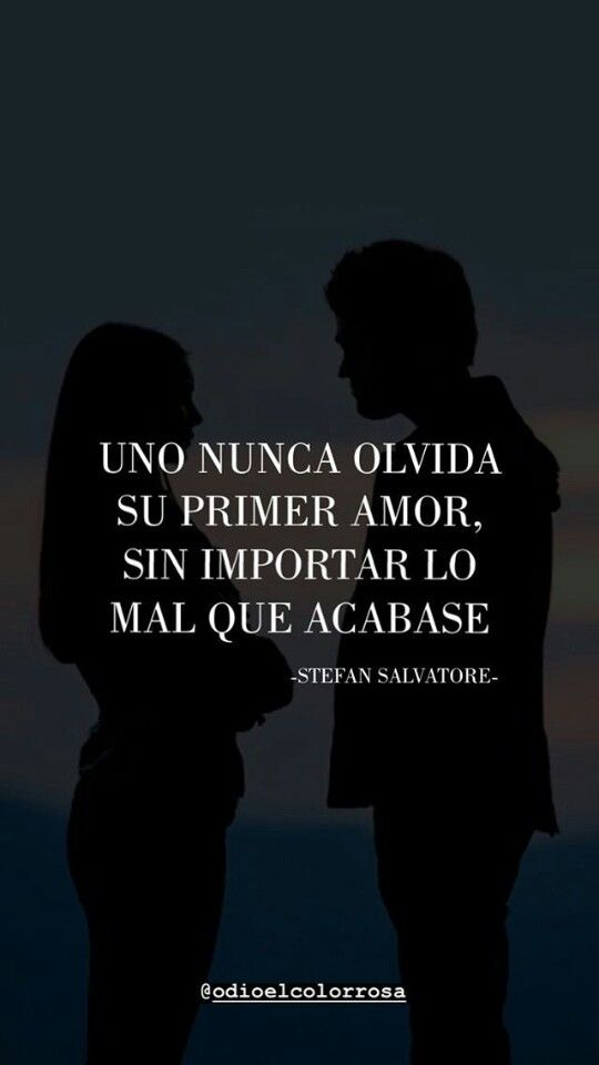 Jamas Voy A Olvidarte Fuistes Mi Primer Amor M Frases