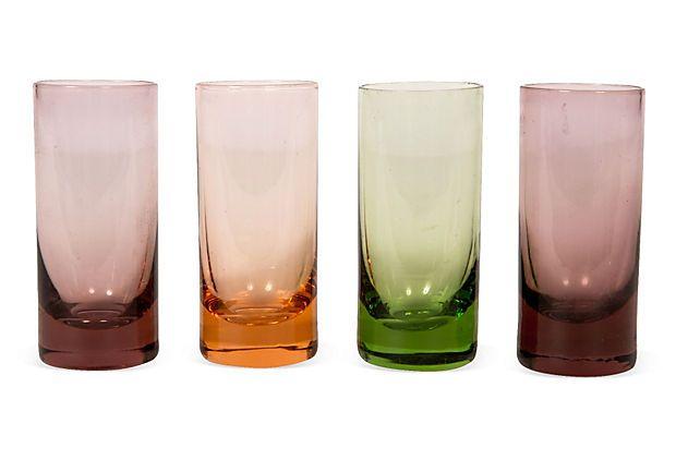 Midcentury Shot Glasses, Set of 4 on OneKingsLane.com