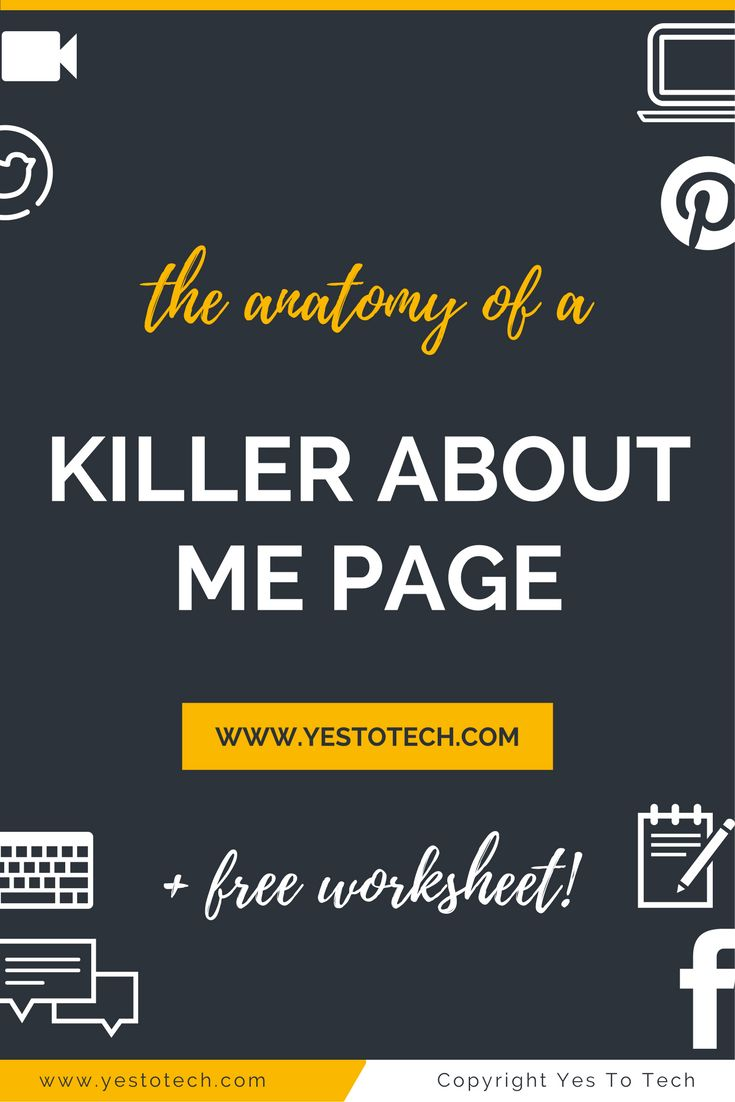 The Anatomy Of A Kickass About Me Page. The About Me page on your website is where your visitors will go to get a taste of 'the face' behind 'the business'. Learn how to write a kickass about me page. about me quotes | about me | about me questions | about me page | about me page examples | About me inspiration | About Me | About Men | About Me | About me | About Me-Sonoma County and the World