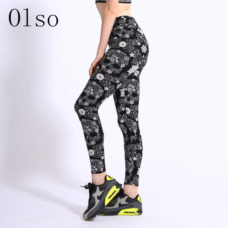 High Waist 3D Printed Skull Leggings Cheap Gothic Pants Micro Fiber Fleece Soft Fitness Clothes For Women Sportswear Slim Leggin
