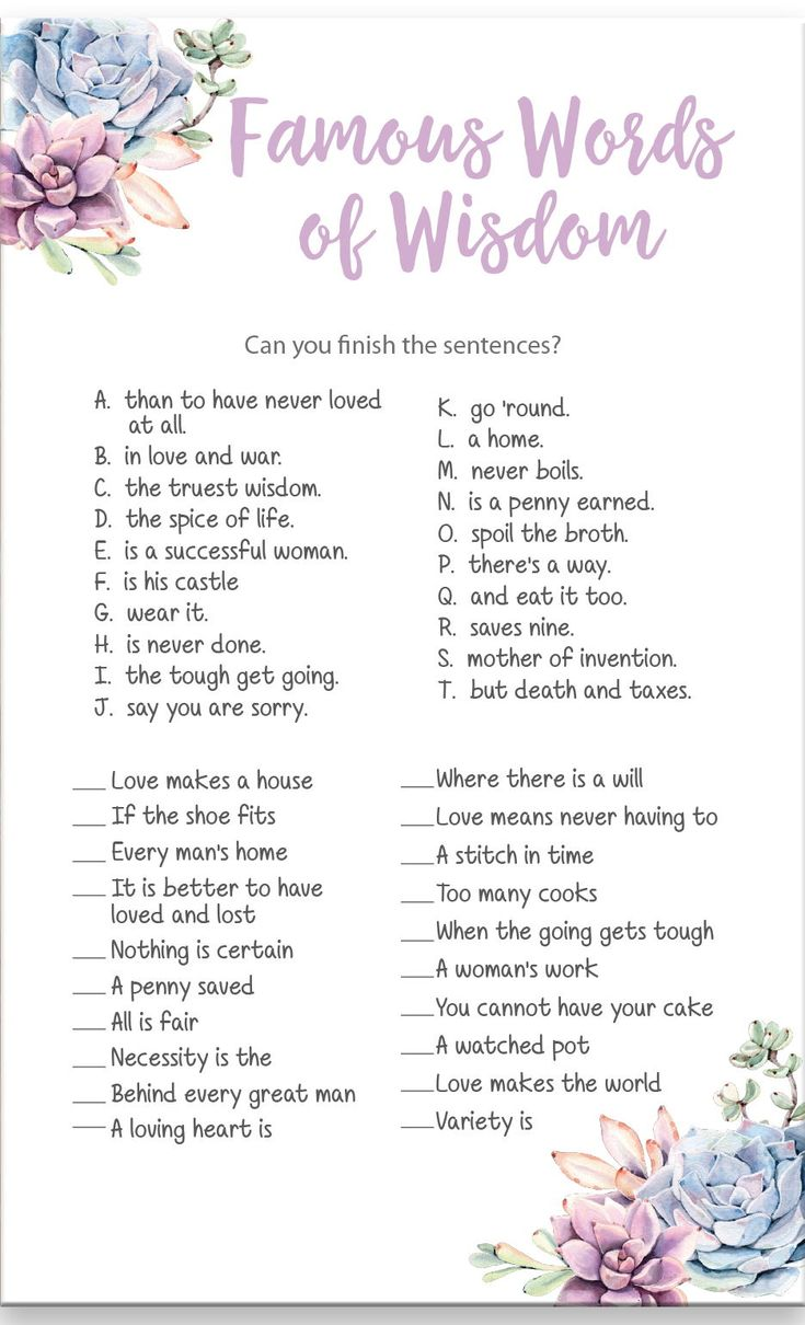 matching gift tracker included  words of wisdom bridal shower game featuring beautiful blue and