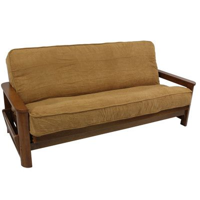 """Futon Slipcover Size: 9"""" and 10"""", Upholstery: Cardinal red - http://delanico.com/futons/futon-slipcover-size-9-and-10-upholstery-cardinal-red-589465451/"""