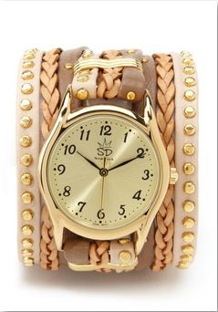 Pretty in neutral: Tones Watches, Gold Tones, Leather Watches, Amazing Accessories, Bracelets Watches, Cute Watches, Sara Design, Wraps Watches, Neutral Gold