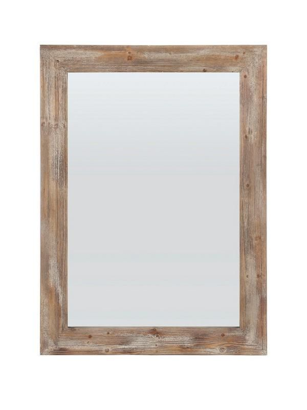 Gallery Stanton Rustic Timber Medium Wall Mirror – 51 x 142 cm Bring a beach hut feel to your space with this gorgeous timber mirror from Gallery. Suitable for hanging horizontally or vertically, it makes a small room feel much larger by increasing the perception of light and depth in your space. An upcycled finish on the frame gives the whole piece a reclaimed, rustic sense of style. A larger, leaning only version of this mirror is also available separately (see item number K7CL4).Depth…