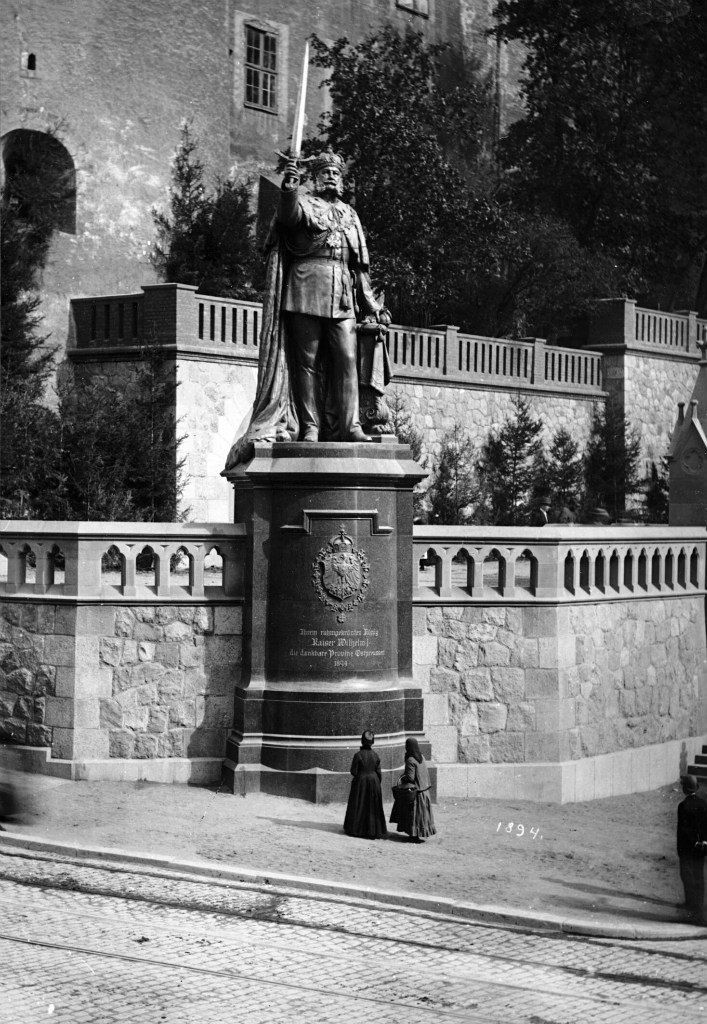 Enormous statue of Kaiser William I of Germany, formerly at Konigsburg, Prussia.