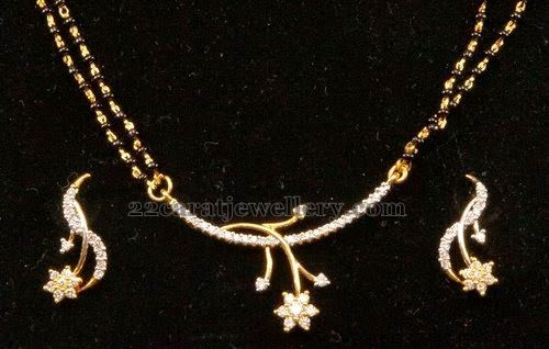 Jewellery Designs: Mangalsutra with Chic Pendant