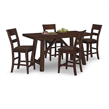 everett dining room 5 pc dinette value city furniture