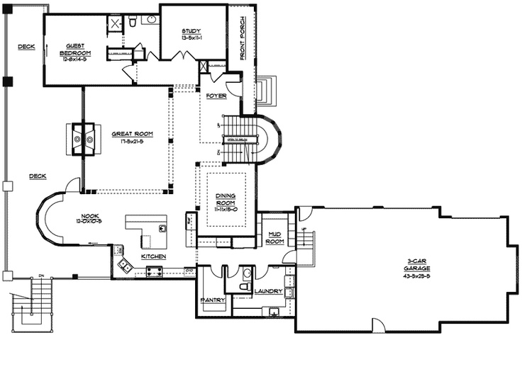 39 best home floorplans images on pinterest home plans for Kitchen floor plans with island and walk in pantry