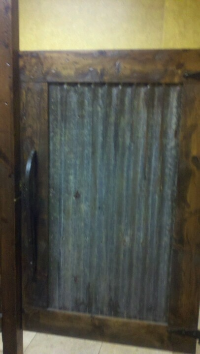 Tin door to cover the pull out hamper