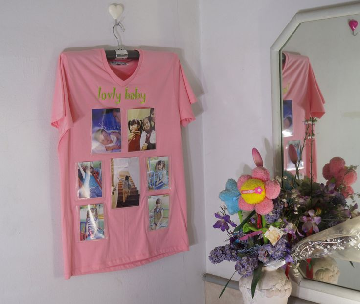 Photo Frame on T-Shirt(Old Rose Color)-New Trend Wall Decorate-Idea for Home Decor by HeavenKnow on Etsy