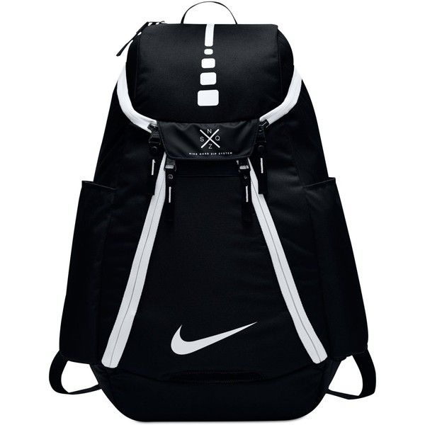 Nike Air Hoops Elite Basketball Backpack ($85) ❤ liked on Polyvore featuring men's fashion, men's bags, men's backpacks and nike