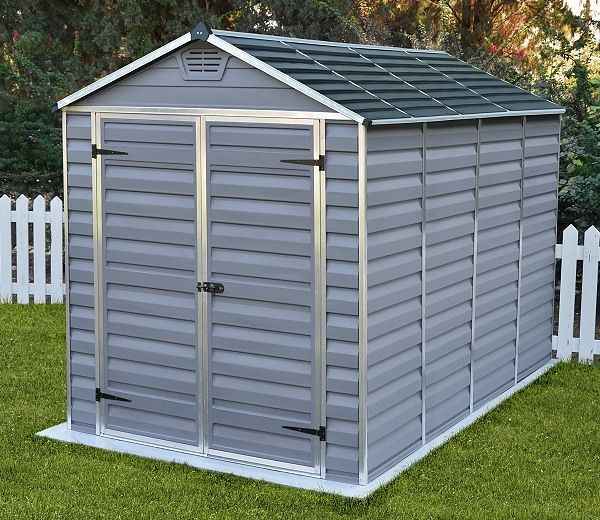 Palram Skylight Anthracite Polycarbonate Shed 6x10