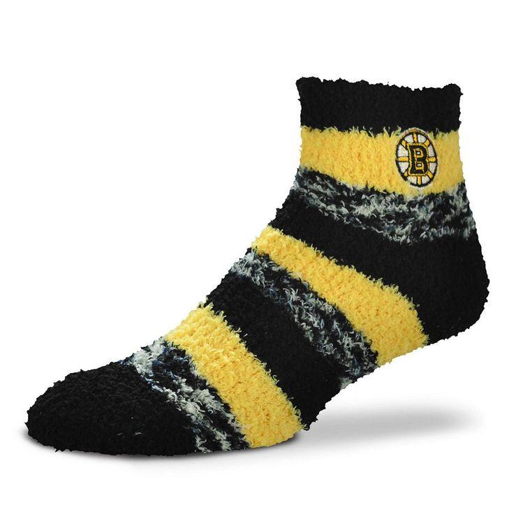 Women's For Bare Feet Boston Bruins Pro Stripe Slipper Socks, Other Clrs