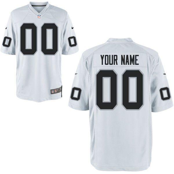 Men Oakland Raiders Custom Game White NFL Jersey | Nfl jerseys for ...
