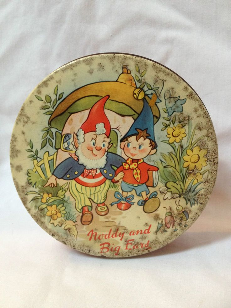 Vintage Noddy  Big Ears, Huntley  Palmers Biscuit Tin, 1956