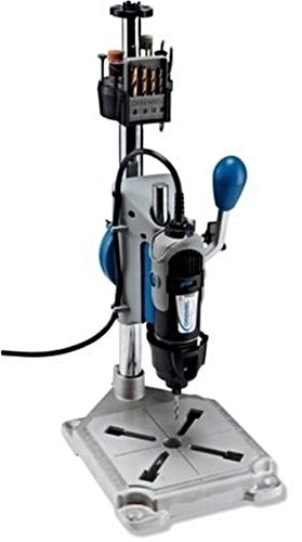 The Dremel Work Station gives you the flexibility to tackle  hobbies, fix-it renovations, or special projects without  having to invest in a variety of separate tools and  attachments. Its stable, sturdy design lets you perform low-  torque, high-speed jobs like drilling holes in metal to make  earrings and bracelets, or sanding even the most detailed  pieces of an architectural model.