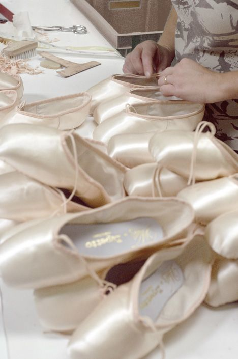 Hand-stitched Rose Repetto ballet shoes