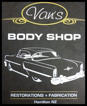 Vans Body Shop in Hamilton New Zealand-they choose us for their custom t shirt screen printing services WWW.ColourWorksnz.Com