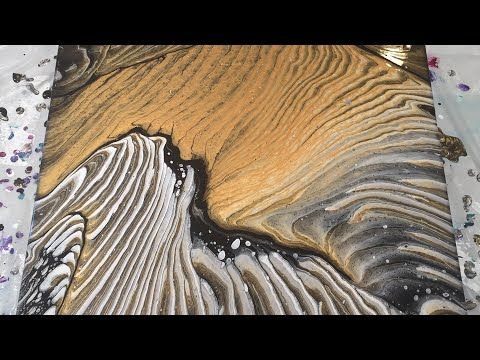 (7) Fluid Art: Acrylic Wandering Ring Pour Large Canvas - YouTube