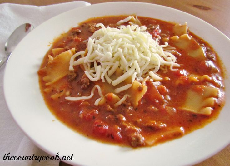 Lasagna Soup | Yummy dinners to try | Pinterest