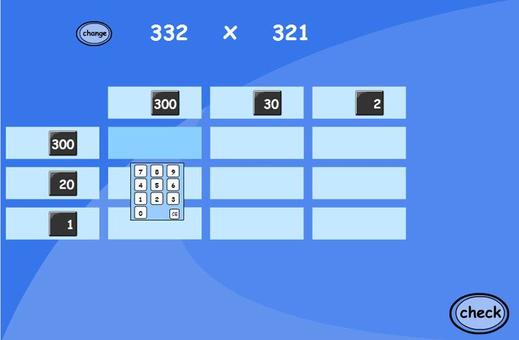 Great for learning up to HTU x HTU on grid method multiplication