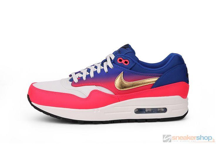 """Nike Wmns Air Max 1 Premium QS """"Mercurial"""" (Ivory/Metallic Gold Coin-Hyper Punch-Gum)   454746-105"""