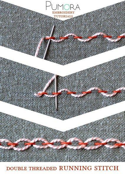 double threaded running stitch tutorial