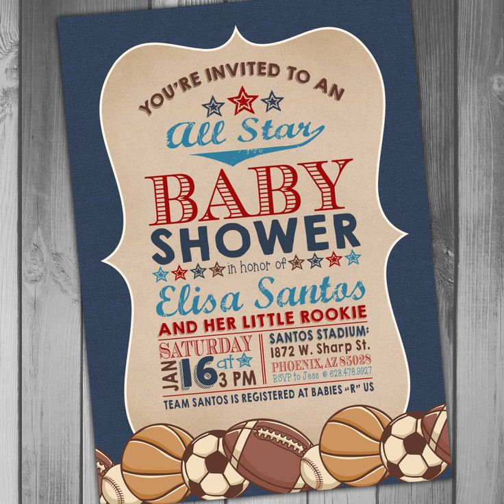 25+ best football baby shower invitations ideas on pinterest, Baby shower invitations